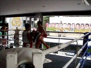 Wojciech Kosowski Muay Thai Pao in Bangkok