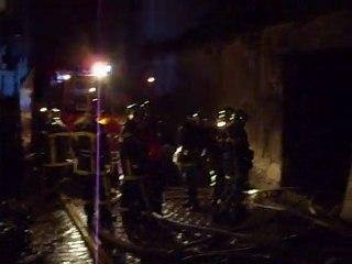 Incendie de la rue Baudrairie à Vitré