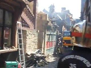 Incendie à Vitré : 3 maisons détruites rue Baudrairie