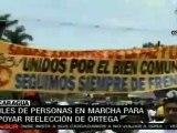 Apoyan en Nicaragua reelección de Daniel Ortega