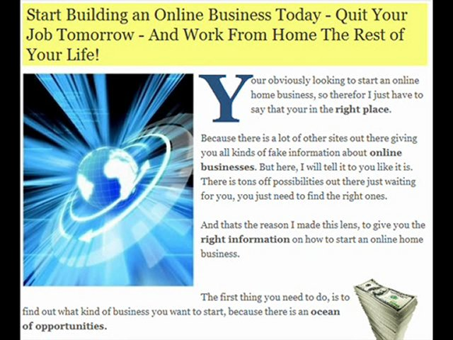 Online Home Businesses