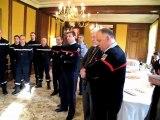 Hommage du préfet de Seine-et-Marne aux sapeurs-pompiers de retour du Japon