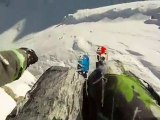 Skiing Cliff Jump with Jamie Pierre