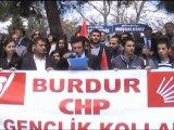 Burdur CHP gençlik Kolları YÖK ve ÖSYM başkanlarını İstifaya Davet Etti