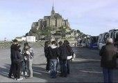 Les jeunes Portugais au Mont St Michel