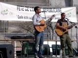 Les Cordes Rouges chantent les Stones pour la Fête de l'école Républicaine place Garibaldi à Nice le 09.04.2011