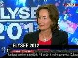 """Ségolène Royal invitée de l'émission """"Elysée 2012""""."""