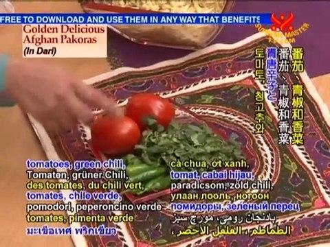Golden Delicious Afghan Pakoras (In Dari)