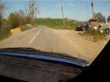 Rallye des monts du lyonnais 2011. Cam Embarquée ES4, AX GTI N1