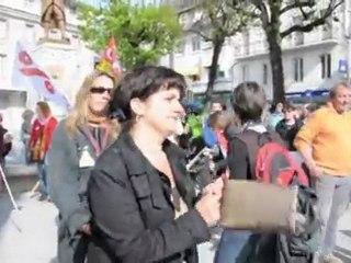 Luchon: pendant que Sarkozy visite l'ERS, 150 personnes manifestent