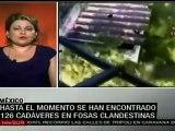 Ya son 126 cuerpos encontrados en fosas en Tamaulipas