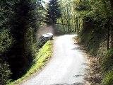 sortie de route equipage ducret cedric / baurier romeo clio rs A7 au ra lyon charbo 2011