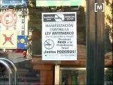 Manifestació contra la llei antitabac