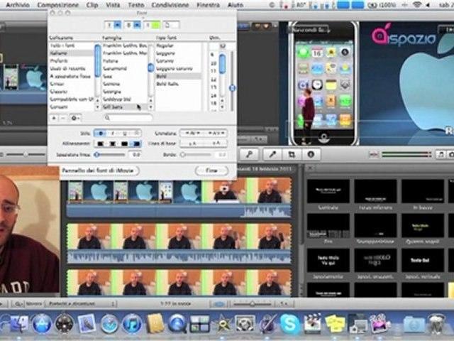 Tutorial in Italiano iMovie'11 Come inserire testi | ITA