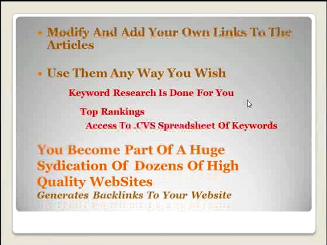 Article Writing Membership