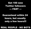 Buy 100 Quality Twitter Followers for Only $5