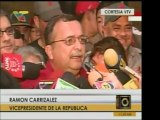 el Vpdte. y Ministro de Defensa, Ramón Carrizales, dijo que