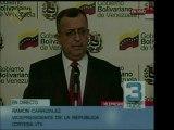 El vicepresidente Ramón Carrizales informó que el Banco de V