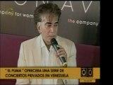 """José Luis Rodríguez """"El Puma"""" dará una serie de conciertos p"""