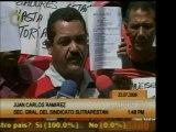 Trabajadores de PDVSA protestaron por distintos pagos que se