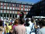 @globovision Concentracion en Madrid. Cortesia de Vanessa Te