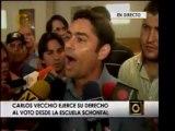 Precandidatos Carlos Vecchio y María Corina Machado ya ejerc