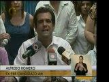 """Alfredo Romero calificó como un """"día ejemplar"""" el de ayer. A"""