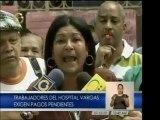 Trabajadores del Hospital Vargas se declaran en protesta por