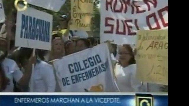 Gremio de enfermeros y enfermeras de Caracas marcharán hasta