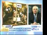Entrevista del presidente de Globovisión, Guillermo Zuloaga,