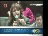 Intervención de la diputada Pastora Medina, de PODEMOS, y el