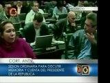 Diputada Iris Varela concluye su intervención en la AN con u