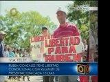 Rubén González sale de prisión y llama a la unión de los tra