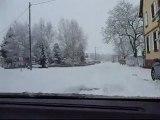 Hiver 2010 - Route sous la neige en Xantia