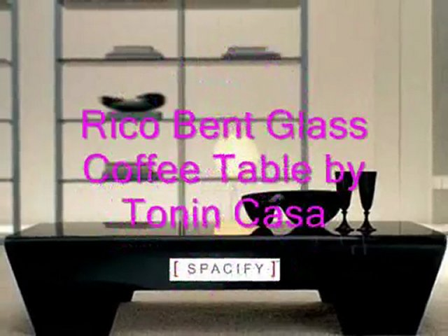 Rico Bent Glass Coffee Table by Tonin Casa, Rico Bent Glass Coffee Table