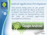 Android Application Development Video - Android App Development, Android Application Developers