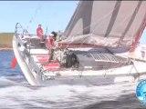Marc Thiercelin et Luc Alphand à l'entrainement et en manoeuvres à bord du 60 pieds DCNS 1000