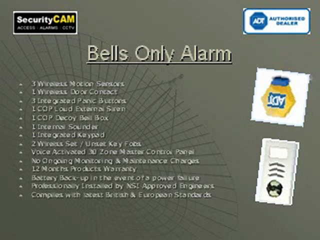 SecurityCAM Ltd: Burglar Alarms Systems | ADT Alarm