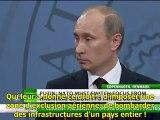 """Poutine: """"Qui a donné la permission de tuer Kadhafi ?"""" S/T"""