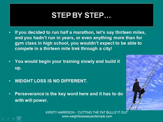 Weight loss advice-perseverance and weight loss