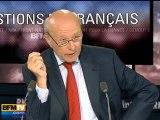 BFMTV 2012 : questions de Français à Pierre Moscovici