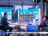 Luc Chatel invité de la Matinale sur Canal + le lundi 2 mai 2011