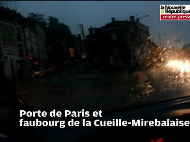 L'orage et la grêle s'abattent sur Poitiers