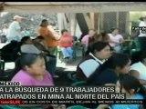 Trabajan en rescate de mineros atrapados al norte de México