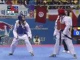 Bekkali Lamyaa - Hatice K. Yangin (53kg semifinal wtf world taekwondo championships 2011)