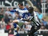 Newcastle 2-1 Birmingham Ridgewell sent-off, Taylor, Bowyer scor
