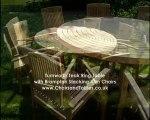 Turnworth Round Ring Table Garden Furniture Set with Brampton Stacking Chairs