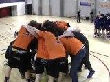 (handball N3M) La joie des Bouguenaisiens qui accèdent à la N2 à l'issue du dernier match de la saison