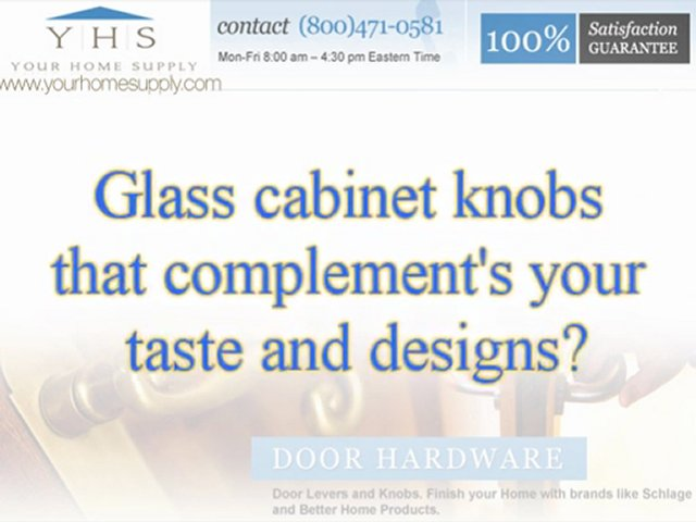Durable Glass Cabinet Knobs