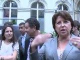 Mazarine Pingeot et Martine Aubry à la journée mon 10 mai